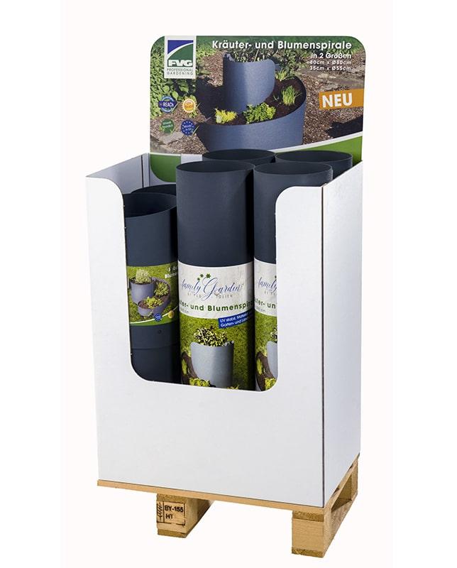 Verkaufsaufsteller Kräuter- und Blumenspirale Folien Vertriebs GmbH
