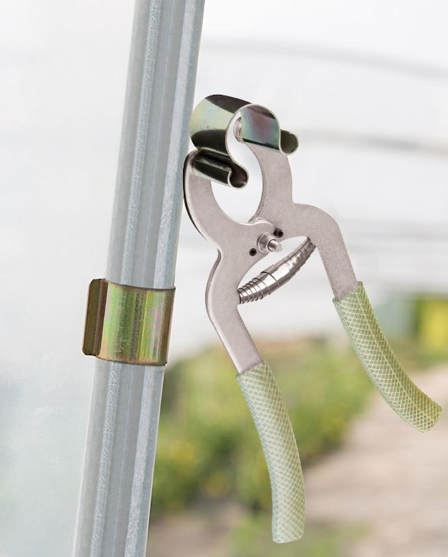 Ohrclip für Folientunnel mit Befestigungszange