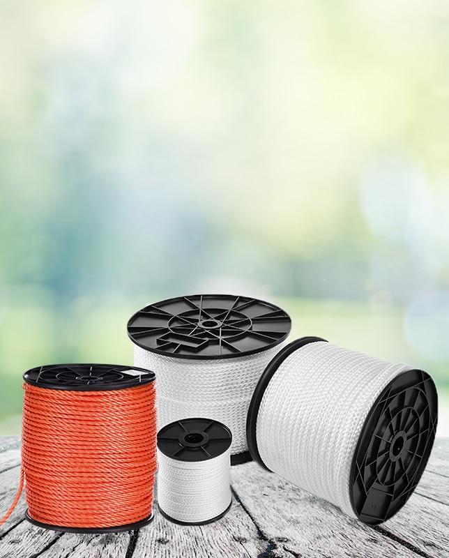 Seile und Bänder für die Verwendung in Folientunneln