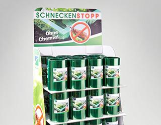 Aufsteller Schneckenbarriere FVG Folien Vertriebs GmbH Schneckensperre